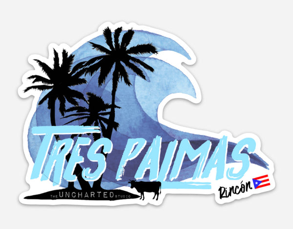 Tres Palmas Wave Sticker
