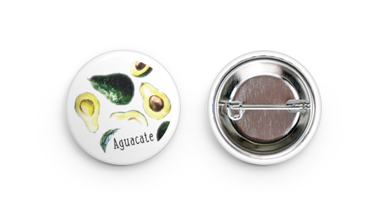 Pin Back Button - Aguacate