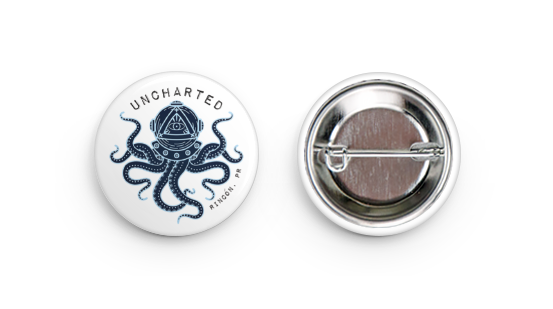 Pin Back Button - Octopus