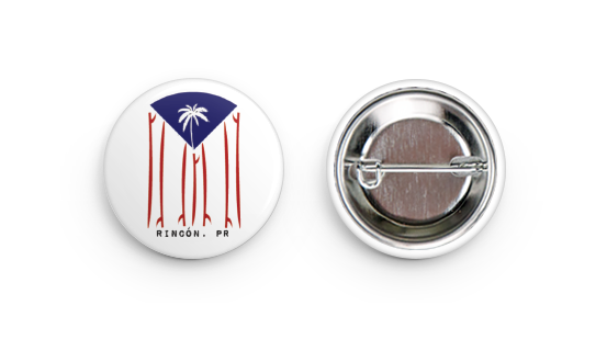 Pin Back Button - Puerto Rico Flag