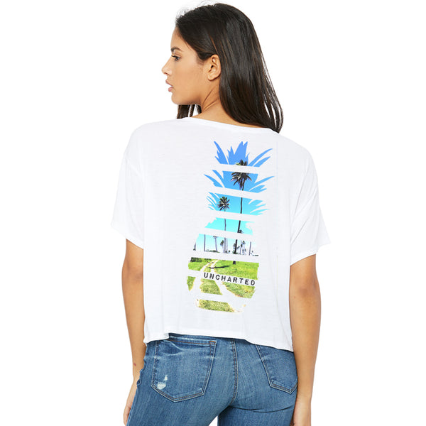 Womens Pineapple Road Flowy Tee