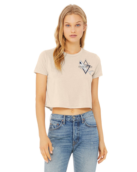 Womens Cropped Shark Tee