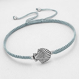 Sterling Silver Scallop Shell Bracelet
