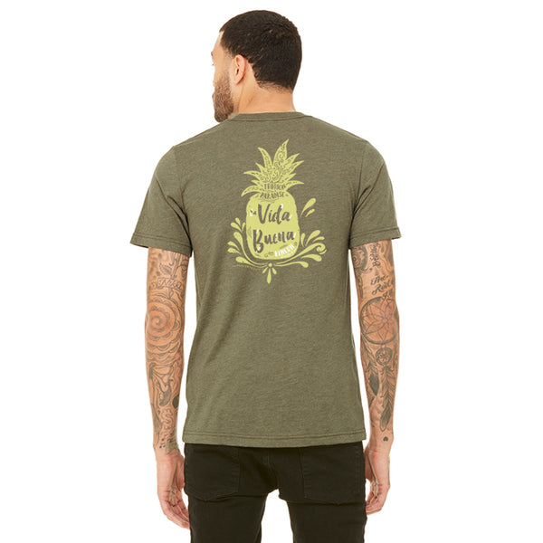 Mens Vida Buena Pineapple Tee