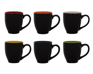 Taza brillante color negro, interior brillante a color. CAP. 12 OZ---DBA2634