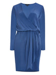 %100 SILK WRAP OVER DRESS