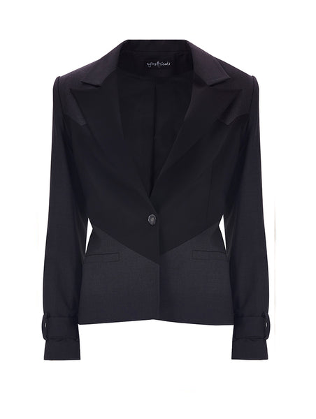 TWO COLORED BLAZER JACKET