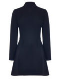 ICONİC DEEP V DRESS WITH LONG SLEEVES