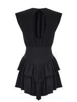 mybestfriends open back detail frilled dress