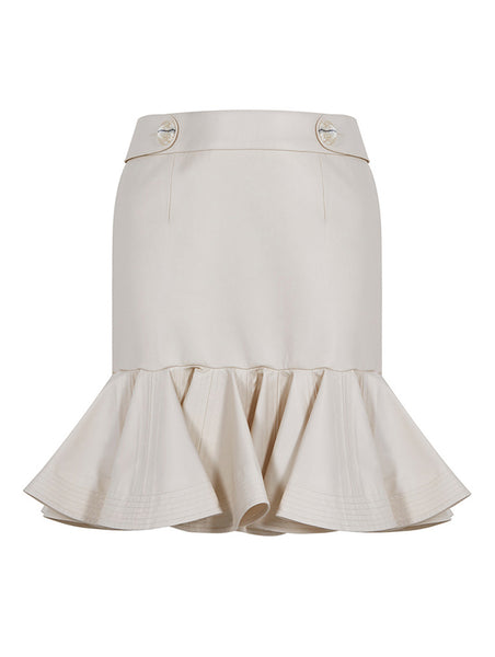 CORSAGE AND FRILL DETAILED SKIRT