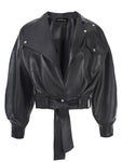 LEATHERETTE BIKER JACKET