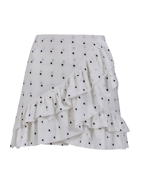 FRILLED POLKA-DOT SHORTSKIRT