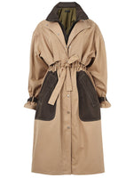 DOUBLE COLLAR DETAIL TRENCH COAT