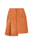 POCKET DETAILED MINI LEATHERETTE SKIRT