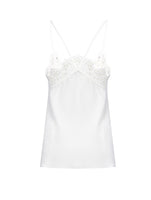 LACE DETAIL SILK SINGLET