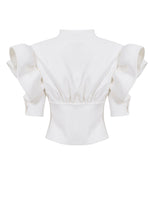 CORSAGE AND ARM DETAIL BLOUSE