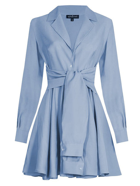 TIED AT WAIST SHIRT DRESS