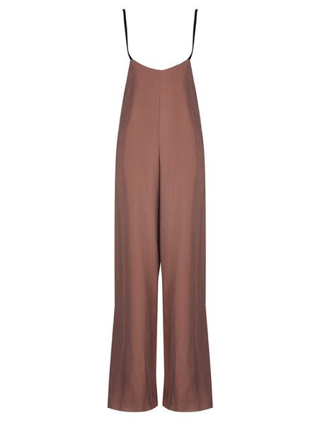 HIGH WAISTED PANTS WITH SHOULDER STRAPS