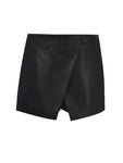 MINI BELL LEATHERETTE SHORTSKIRT