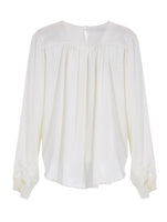 DEEP V TULLE DETAILED BLOUSE