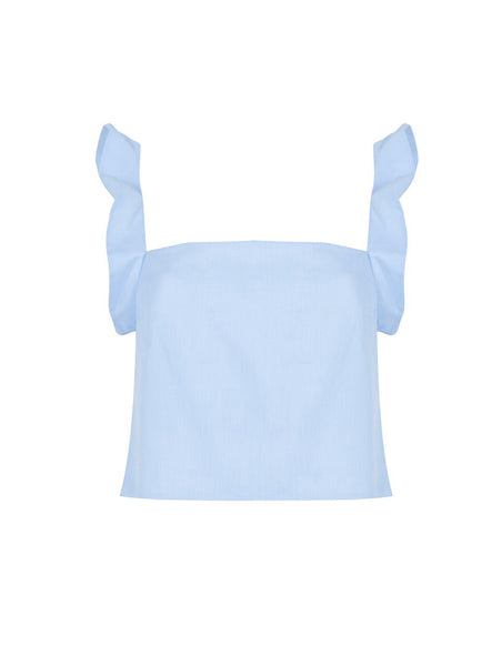 SQUARED NECK COTTON CROP TOP