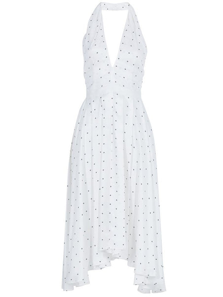 DEEP V CUT POLKA DOT DRESS