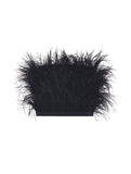 FAUX OSTRICH FEATHER BUSTIERE