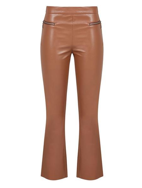 MINI FLARED PANTS WITH ZIPPER DETAIL