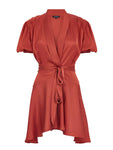 WRAP OVER TIE DETAILED DRESS