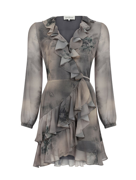 WRAP OVER FRILLED DRESS