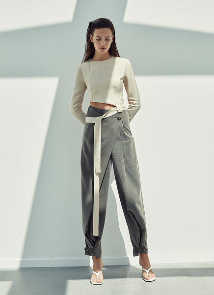 LAYER DETAILED TROUSERS