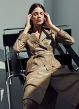 LEATHERETTE TRENCH COAT