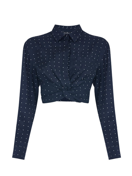 POLKA DOT CROP SHIRT