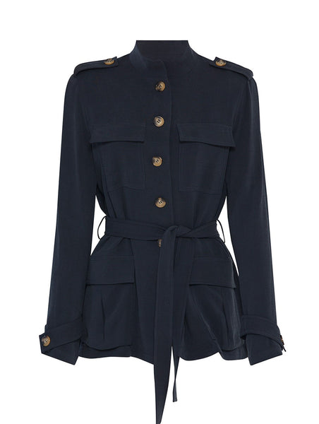 NAVY BLUE SAFARI JACKET