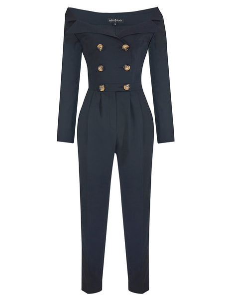 PRINCESS COLLAR JUMPSUIT