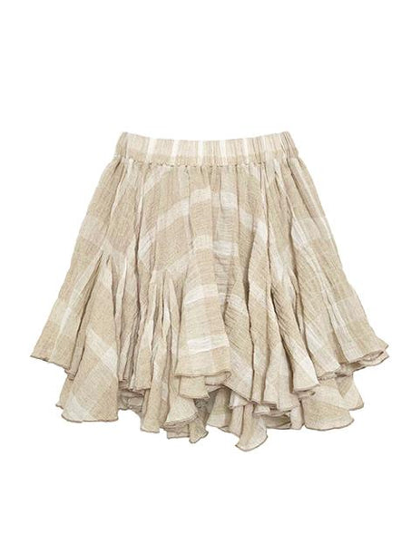 SANDY PLAID SHORT SKIRT