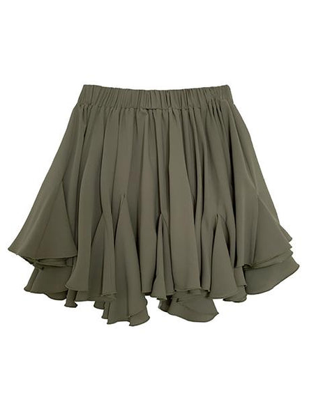 SANDY CHIFFON SHORT SKIRT