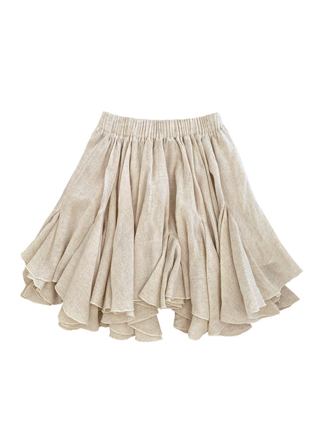 SANDY LINEN SHORT SKIRT