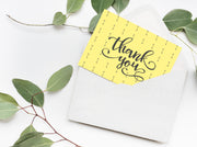 Yellow Arrows Thank You Card