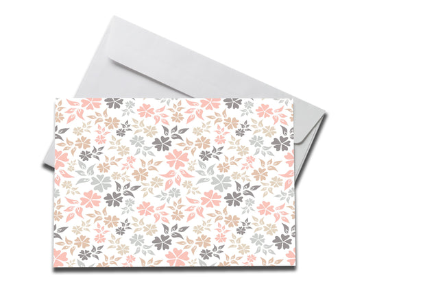 Pastel Floral Get Well Soon Card laying on a white envelope