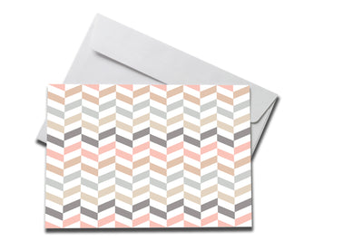 Pastel Zig Zag Get Well Soon Card laying on a white envelope