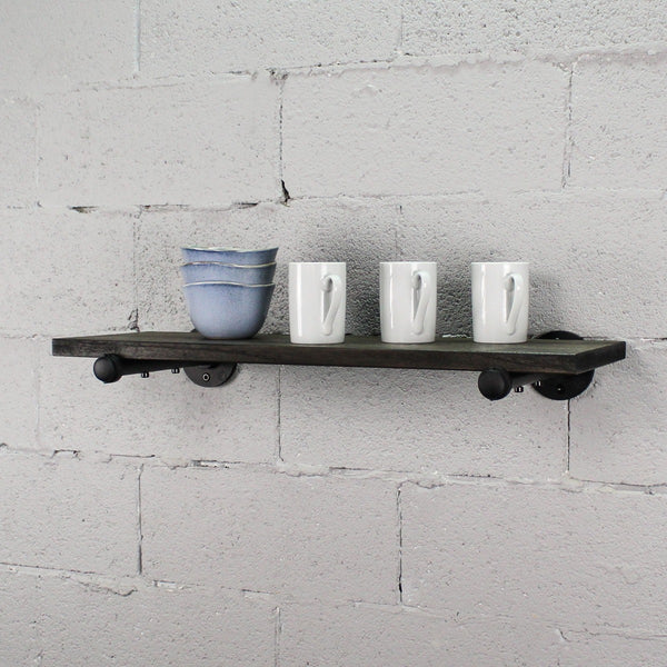 "Furniture Pipeline - Somerville Farmhouse Industrial 30"" Wide Decorative Wall Shelf"
