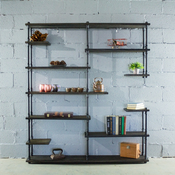 Furniture Pipeline - Nashville Industrial Mid-Century Etagere Bookcase