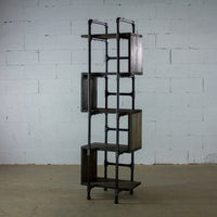 Furniture Pipeline - Tucson Modern Industrial Etagere Bookcase Display