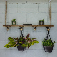 Furniture Pipeline - Portland Industrial Chic Plant Hanger Shelf