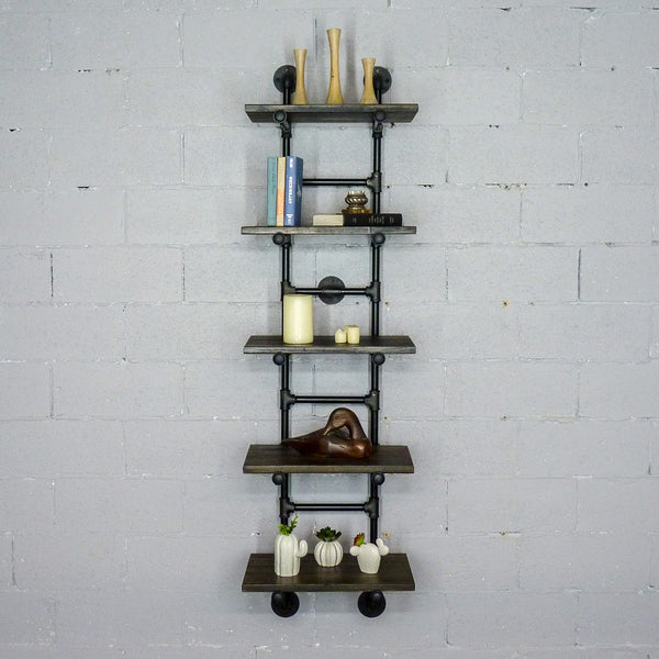 Furniture Pipeline - Phoenix Modern Industrial Ladder Wall Mounted Bookcase