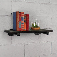 "Somerville Farmhouse Industrial 24"" Wide Decorative Wall Shelf - Sill Appeal"