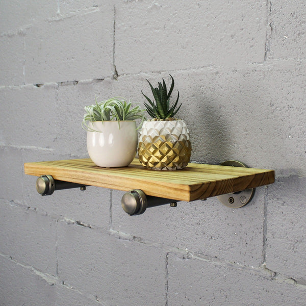 "Furniture Pipeline - Somerville Farmhouse Industrial 18"" Wide Decorative Wall Shelf"