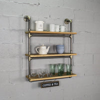 "Furniture Pipeline - Juneau Industrial Chic  30"" Wide  3-Tier Wall Mounted Etagere Bookcase"