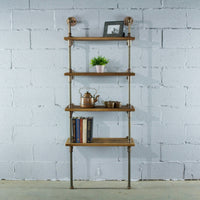 "Furniture Pipeline - Sacramento Industrial Chic  27"" Wide  4-Tier Etagere Bookcase"